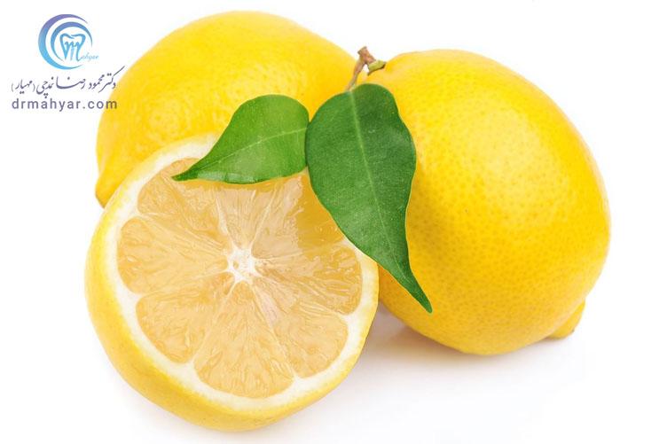 لیمو ترش و سفید کردن زیربغل